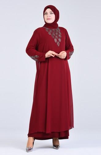 Habillé Hijab Bordeaux 1267-02