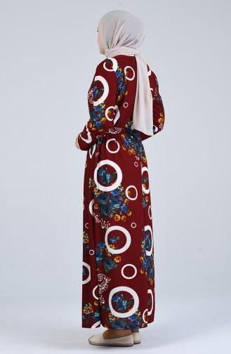 Robe Hijab Bordeaux 4556G-02