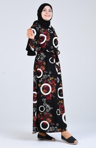 Schwarz Hijap Kleider 4556G-04