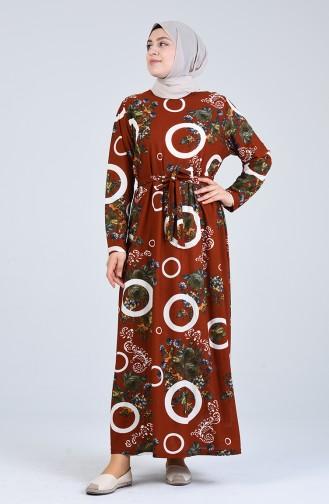 Robe Hijab Couleur brique 4556G-05