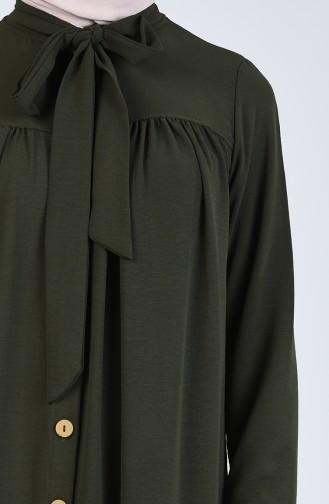 Buttoned Dress 5671-04 Khaki 5671-04
