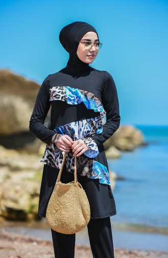 Black Swimsuit Hijab 8094-03