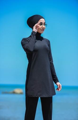 Black Swimsuit Hijab 8151-01