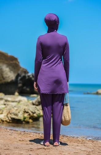 Lila Hijab Badeanzug 8151-02