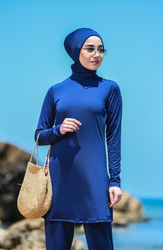 Navy Blue Swimsuit Hijab 8151-03