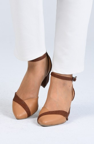Chaussures a Talons Moutarde 0060-03