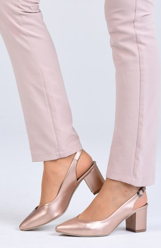 أحذية الكعب العالي زهري البشرة 0611-04