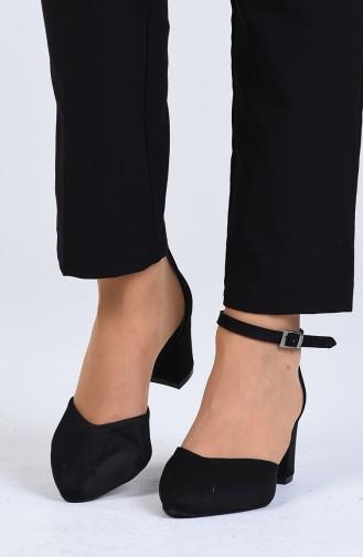 Chaussures a Talons Noir 0612-01