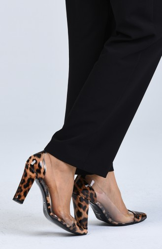 Chaussures a Talons Couleur Brun 2122-02