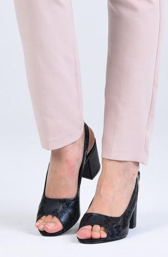 Navy Blue High Heels 9051-03