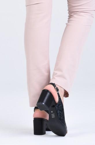 أحذية الكعب العالي أزرق كحلي 9051-03