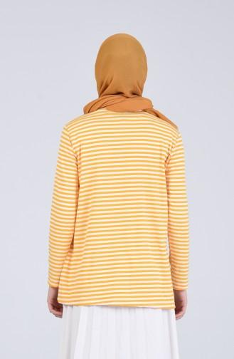 Çizgili Body 5311-06 Sarı