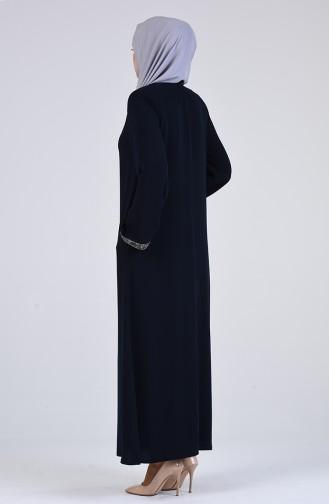 Kravat Yaka Fermuarlı Ferace 5002-02 Lacivert