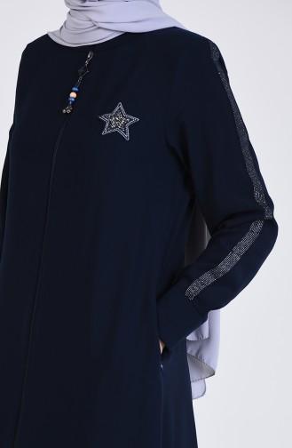 Abayas Bleu Marine 5009-03