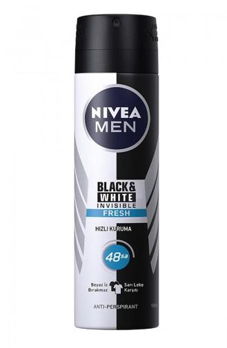 Nivea Men Black and White Invisible Fresh Erkek Deodorant 150 Ml