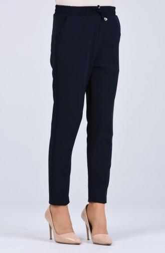 Straight Leg Pants with Elastic Waist 4088-09 Damson 4088-11