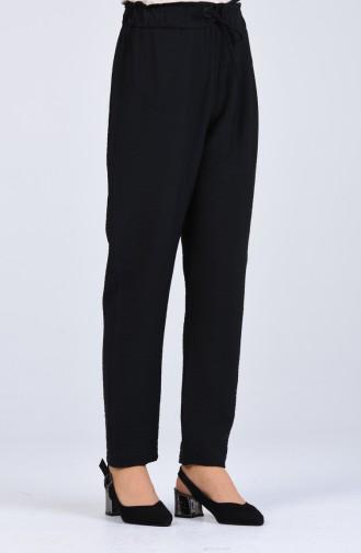 Beli Lastikli Pantolon 2055-01 Siyah