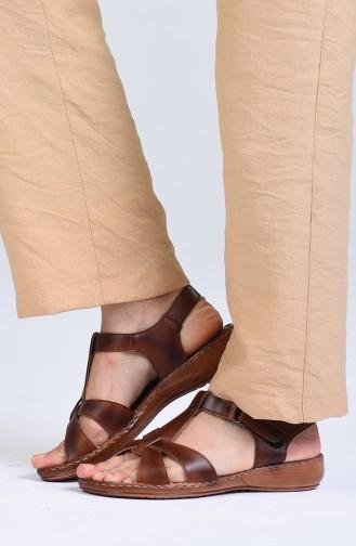 Sandales D`été Tabac 0503-01