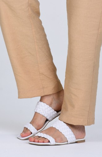 White Summer Slippers 0450-05