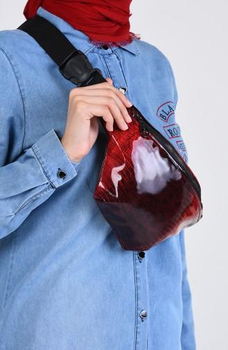 Claret red Belly Bag 1305G-01