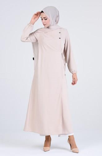 Beige Abaya 6814-09