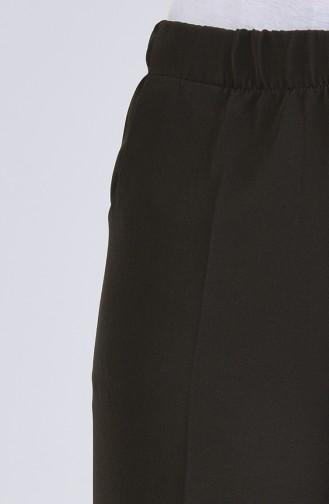 Elastic waist wide-leg Trousers 0505-04 Dark Green 0505-04