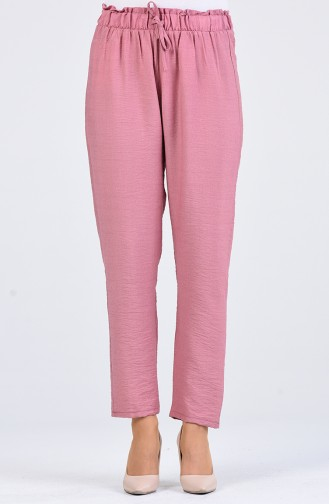 Elastic waist Pants 2055-02 Dry Rose 2055-02