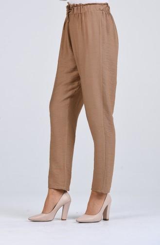 Beli Lastikli Pantolon 2055-04 Camel