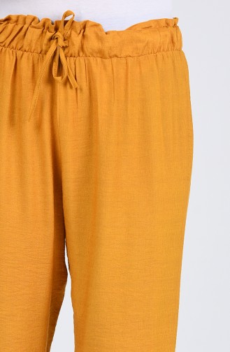 Beli Lastikli Pantolon 2055-05 Hardal