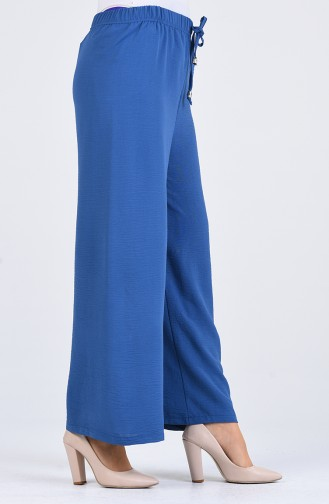 Aerobin Fabric Elastic waist wide Leg Pants 5459-04 Indigo 5459-04