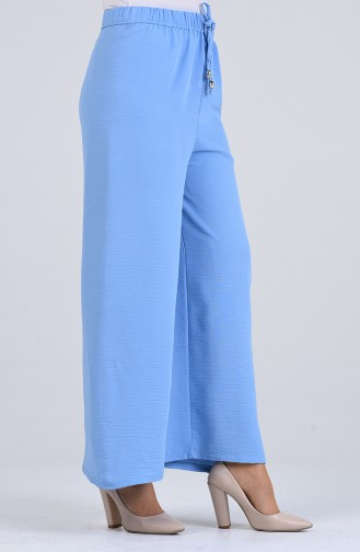 Aerobin Fabric Elastic waist wide Leg Pants 5459-09 Ice Blue 5459-09