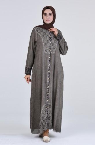 Robe Hijab Beige Foncé 4141-01