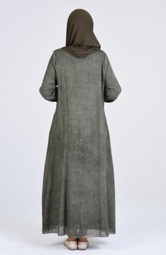 Robe Hijab Khaki 4141-02