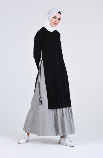 Robe Hijab Gris 91006-01
