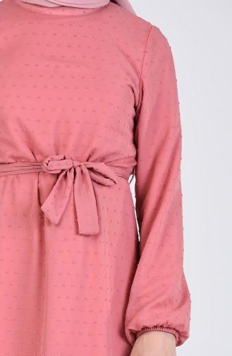 Robe Hijab Rose Pâle 7664-01