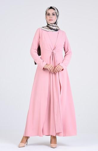 فستان زهري باهت 7670-02