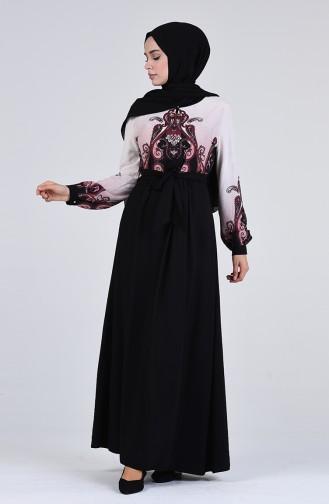 Taş Baskılı Elbise 9Y3960500-01 Siyah