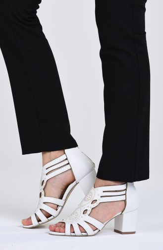 Chaussures a Talons Blanc 9055-09