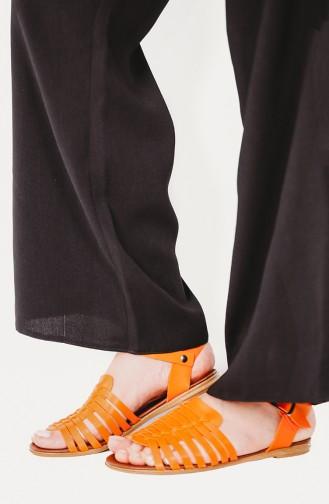Sandales D`été Orange 06