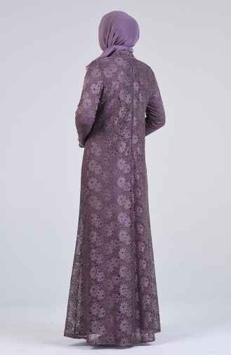 Dusty Rose Islamic Clothing Evening Dress 1319-02