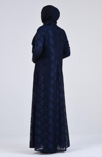 فساتين سهرة بتصميم اسلامي أزرق كحلي 1319-03