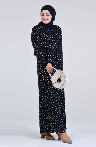 Robe Hijab Bleu Marine 4550C-01