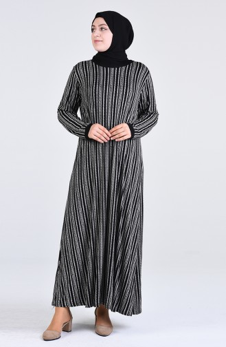 Robe Hijab Noir 4550G-02