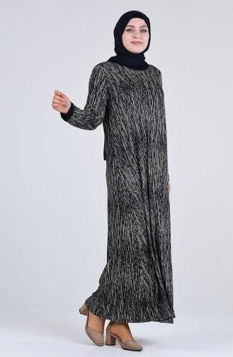 Robe Hijab Bleu Marine 4550L-01