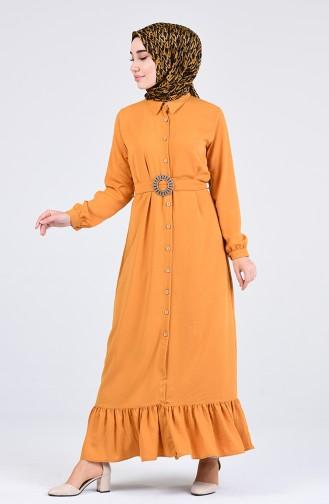 Senf Hijap Kleider 9057-03