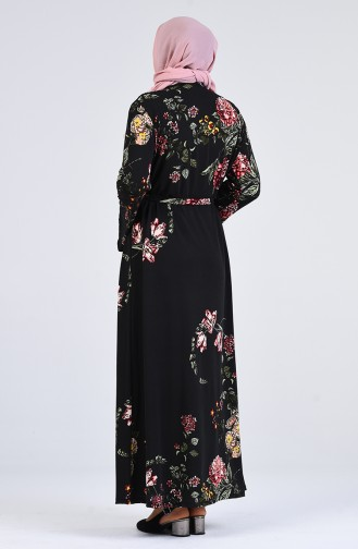 Robe Hijab Noir 1800-01