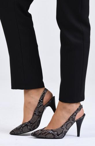 Chaussures a Talons Brun Foncé 0032-01