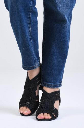Chaussures a Talons Noir 0523-01