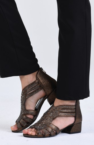 Chaussures a Talons Cuivre 0523-02