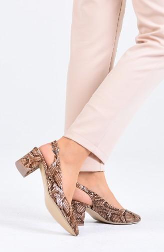 Brown High Heels 0611-03
